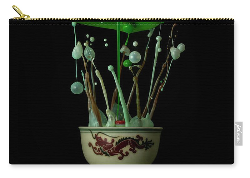 Waterdrops Carry-all Pouch featuring the photograph Fiesta by Ganjar Rahayu