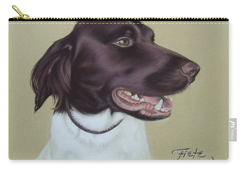 Dog Carry-all Pouch featuring the pastel Fiete by Nicole Zeug