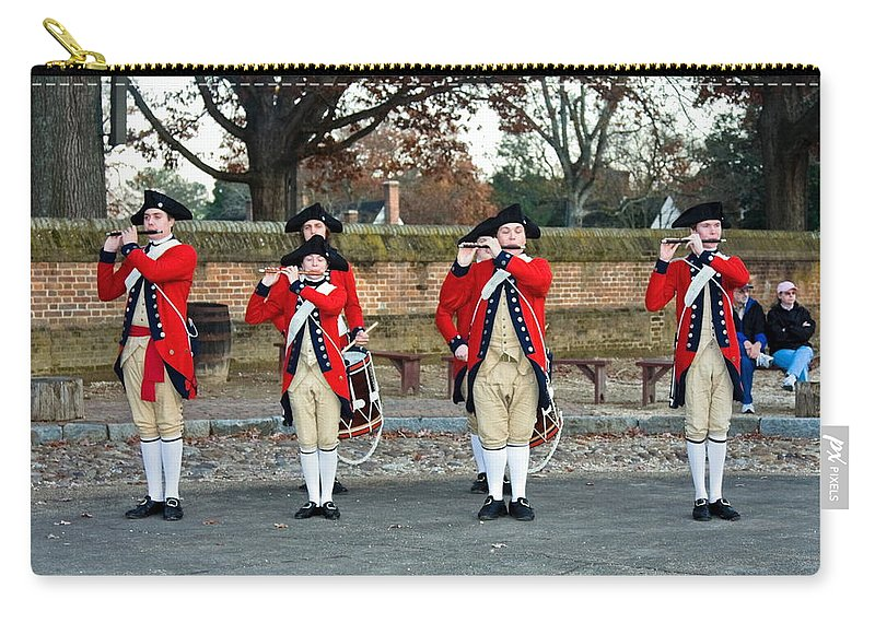 Fifes And Drums Carry-all Pouch featuring the photograph Fifes And Drums by Sally Weigand