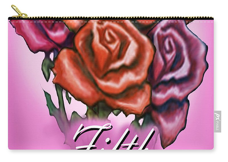 Fifth Carry-all Pouch featuring the greeting card Fifth Anniversary by Kevin Middleton