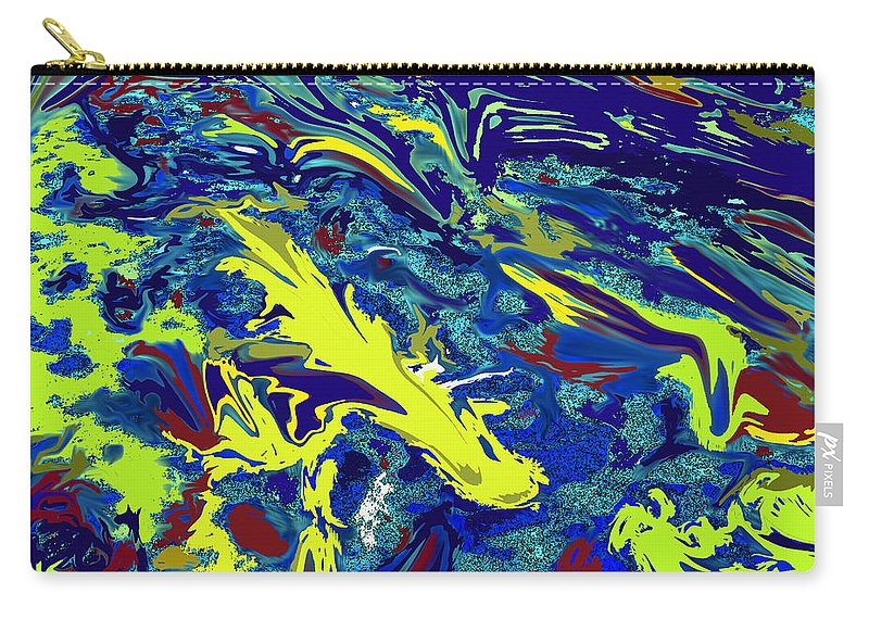 Abstract Carry-all Pouch featuring the digital art Fighting Fish by Ian MacDonald