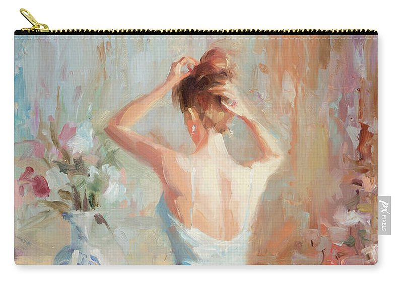 Romance Carry-all Pouch featuring the painting Figurative II by Steve Henderson