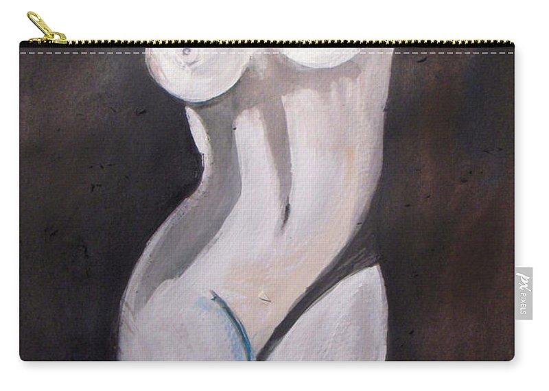 Nude Carry-all Pouch featuring the painting Venus by Vesna Antic
