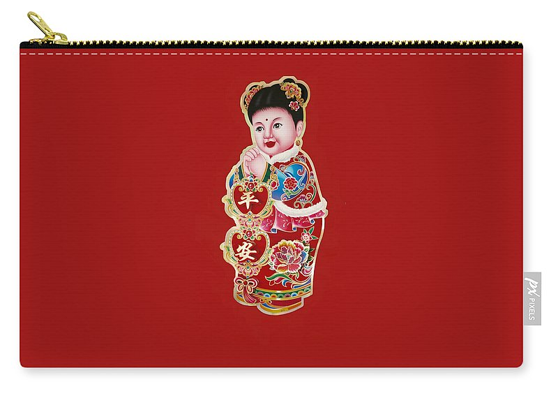 China Carry-all Pouch featuring the photograph Figure Of Culture by Ian Gledhill