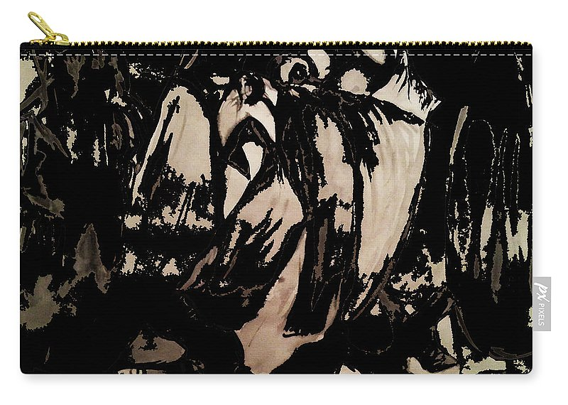 Art Carry-all Pouch featuring the painting Figures by Nour Refaat