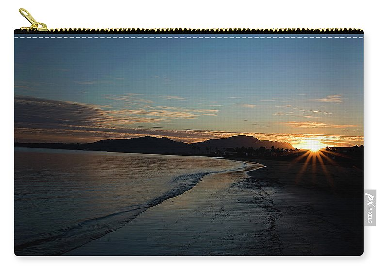 Carry-all Pouch featuring the pyrography Fiji Sunset by Heather Fiedler