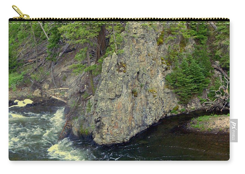 Firehole River Carry-all Pouch featuring the photograph Fin On The Firehole by Marty Koch