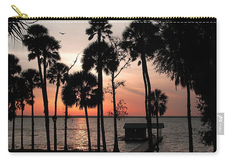 Nature Carry-all Pouch featuring the photograph Final Glow by Peg Urban