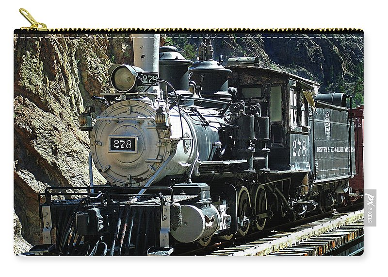 Steam Train Carry-all Pouch featuring the photograph Final Resting Place by Ken Smith