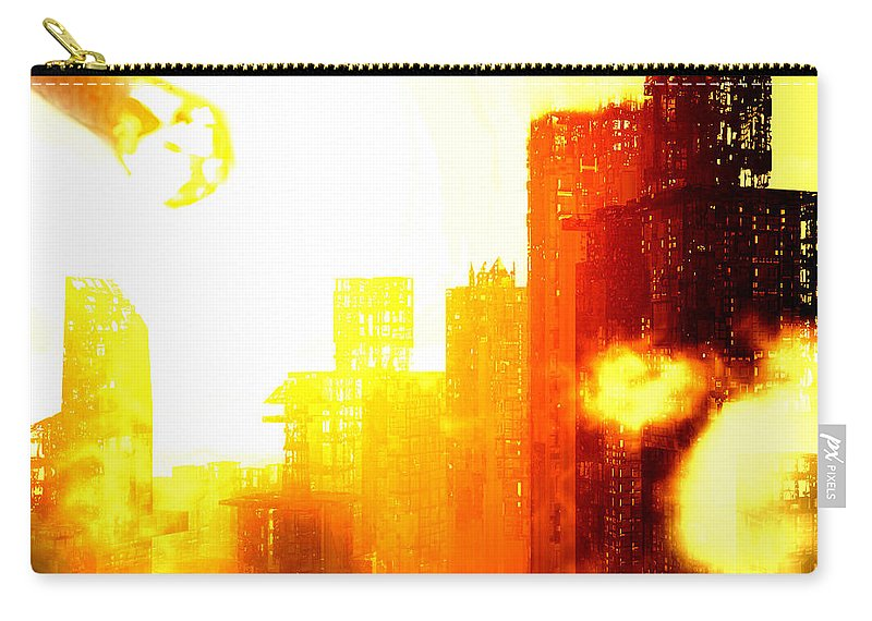 Meteor Showe Carry-all Pouch featuring the digital art Final Strike by Richard Rizzo