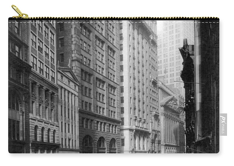 1920 Carry-all Pouch featuring the photograph Financial Center, C1920 by Granger