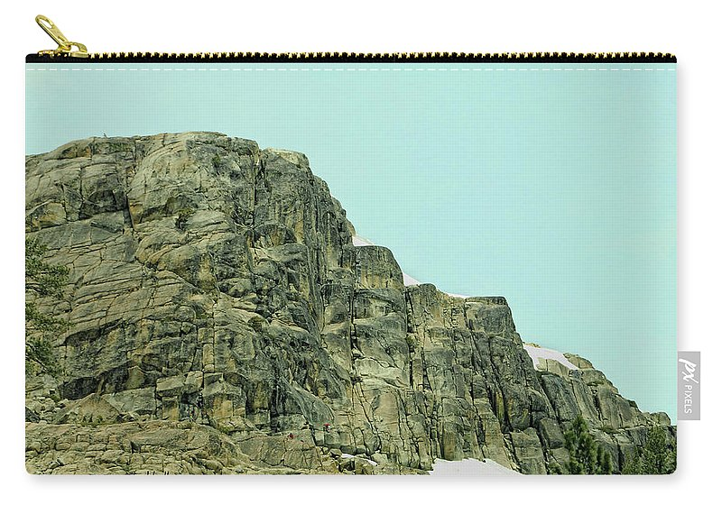 Donner Carry-all Pouch featuring the photograph Find The Climbers by Donna Blackhall