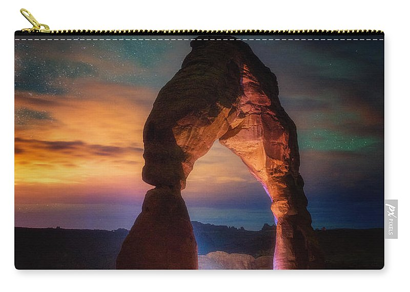Arches Carry-all Pouch featuring the photograph Finding Heaven by Darren White