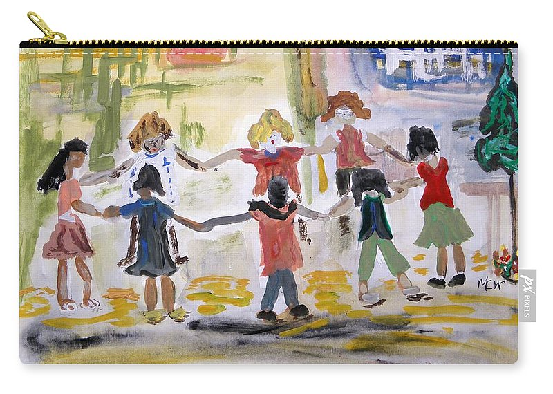 Kids Carry-all Pouch featuring the painting Finding Time To Play by Mary Carol Williams