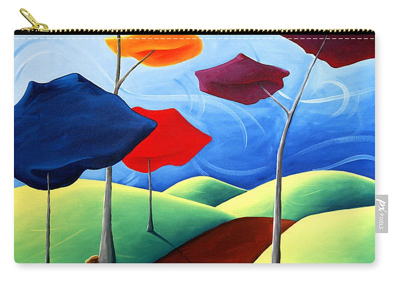 Landscape Carry-all Pouch featuring the painting Finding Your Way by Richard Hoedl
