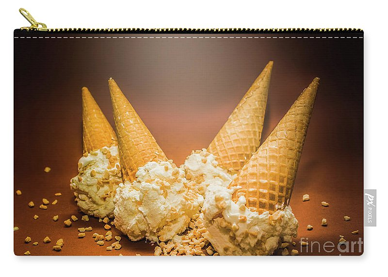 Summer Carry-all Pouch featuring the photograph Fine Art Ice Cream Cone Spill by Jorgo Photography - Wall Art Gallery