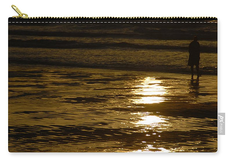 Fine Art Carry-all Pouch featuring the photograph Fine Art- Waves by Jenny Potter
