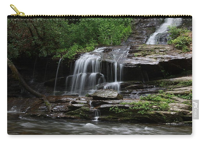 Falls Carry-all Pouch featuring the photograph Fine Falls by Shari Jardina