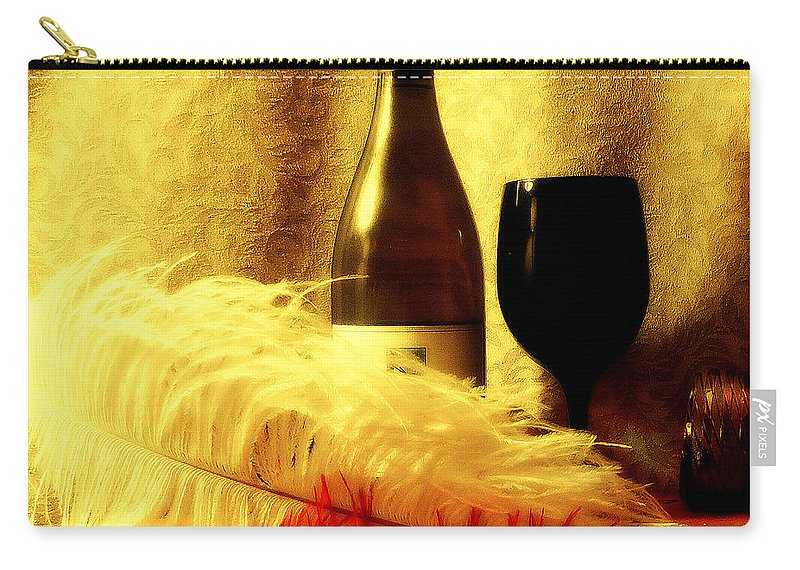 Wine Carry-all Pouch featuring the mixed media Fine Wine by Douglas Coiner