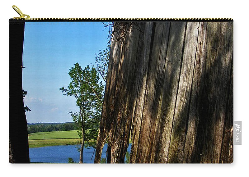 Landscape Carry-all Pouch featuring the photograph Fine Woodwork by Rachel Christine Nowicki