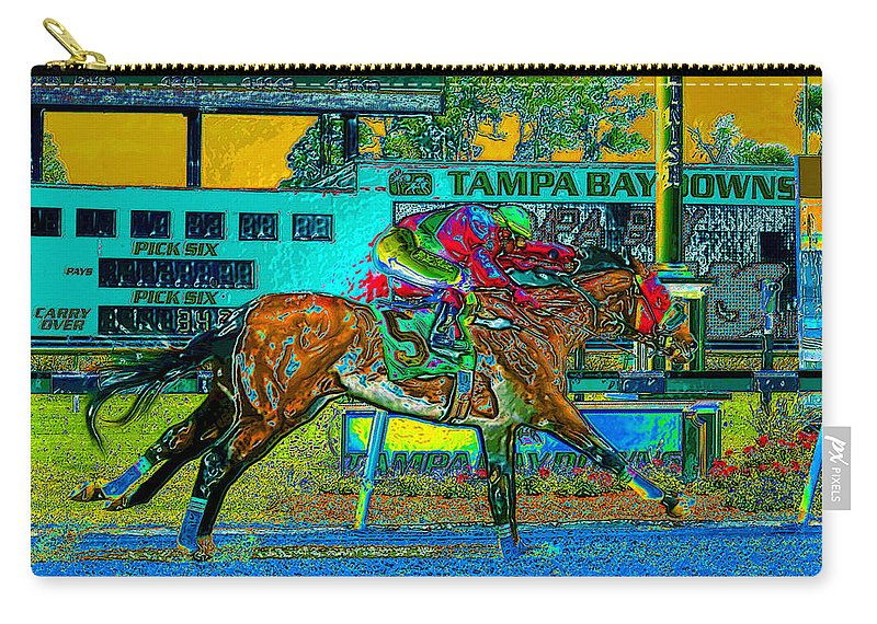 Art Carry-all Pouch featuring the painting Finish Line by David Lee Thompson
