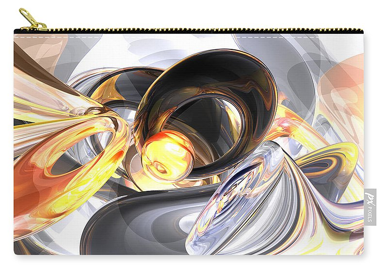 3d Carry-all Pouch featuring the digital art Fire And Ice Abstract by Alexander Butler