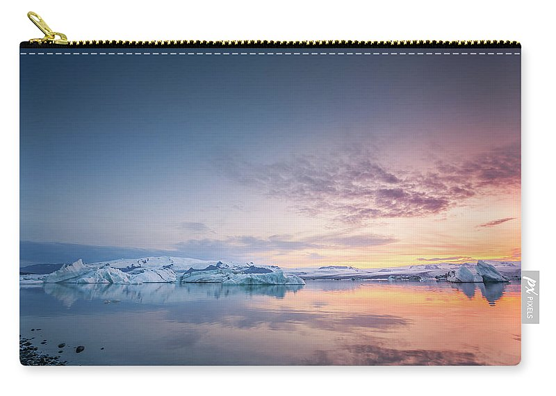 Landscape Carry-all Pouch featuring the photograph Fire And Ice by Siddhartha De