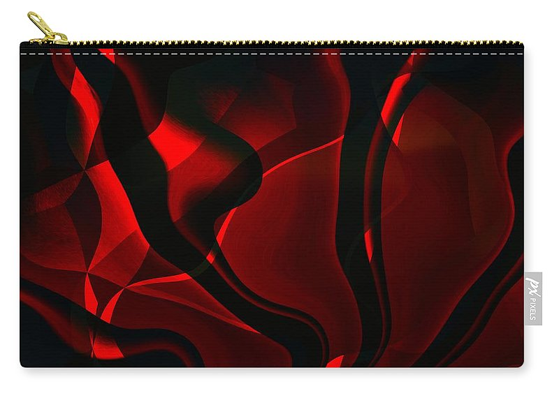 Black Carry-all Pouch featuring the digital art Fire And Smoke by Max Steinwald