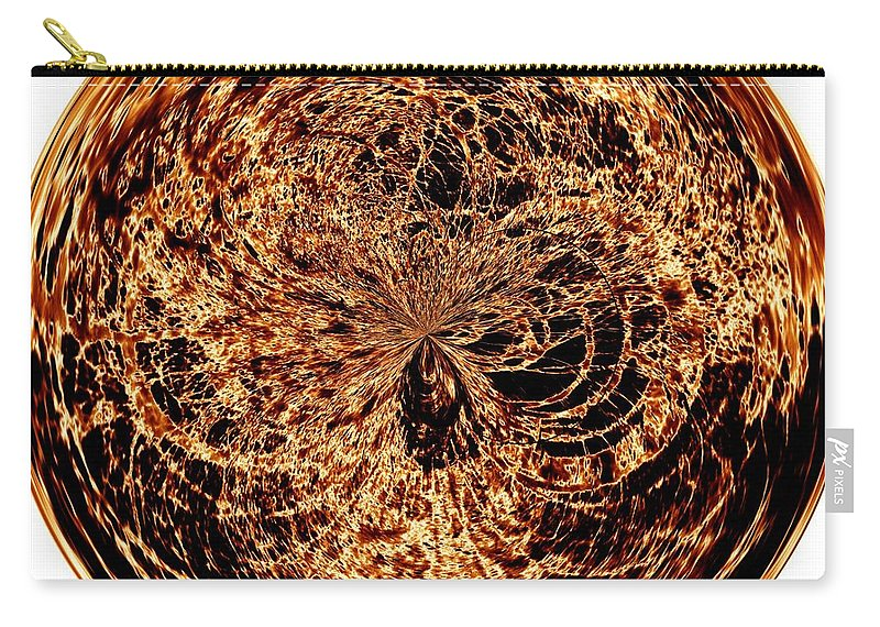 Black Carry-all Pouch featuring the digital art Fire Ball by Charleen Treasures