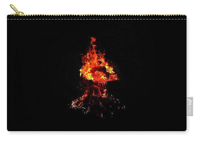 Camp Fire Carry-all Pouch featuring the photograph Fire by Chase Hoskins