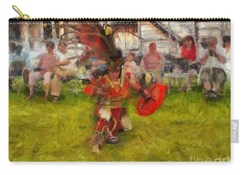 Native American Carry-all Pouch featuring the photograph Fire Dance by Claire Bull
