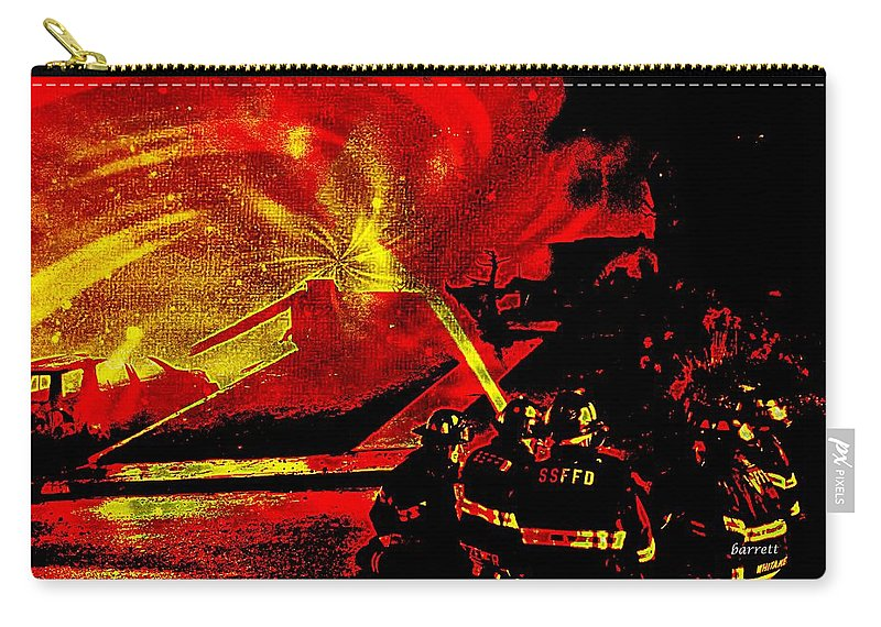 Fire Carry-all Pouch featuring the painting Fire by Don Barrett