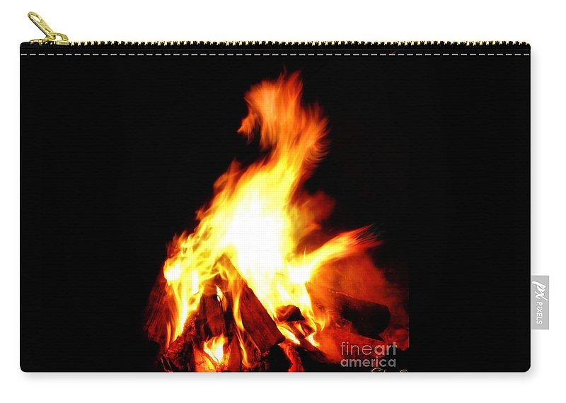 Fire Carry-all Pouch featuring the photograph Fire Dragon 2 by September Stone