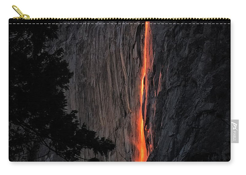 2016 Carry-all Pouch featuring the photograph Fire Fall by Edgars Erglis