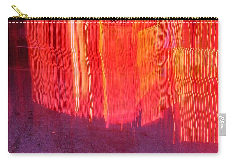 Photograph Carry-all Pouch featuring the photograph Fire Fence by Thomas Valentine