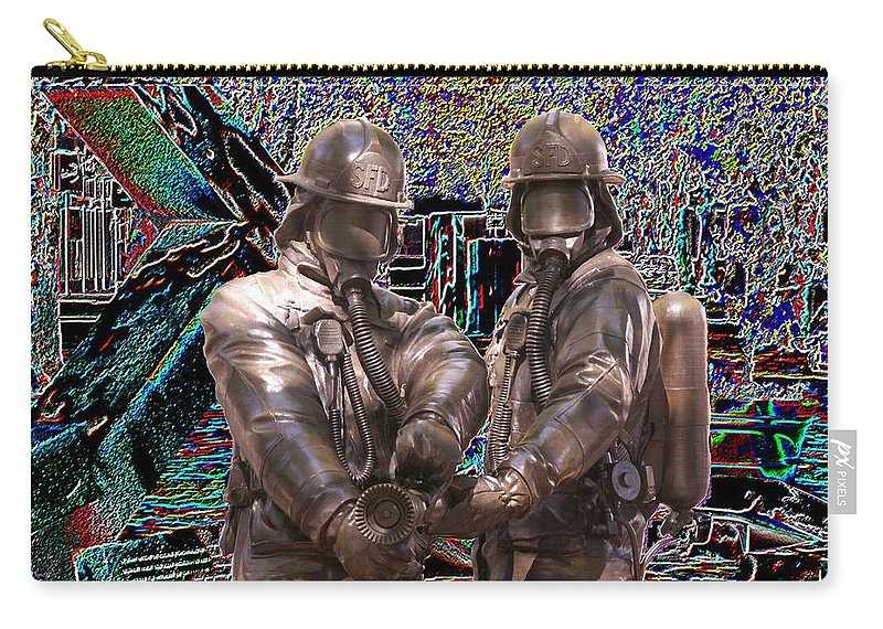 Fire Fighter Carry-all Pouch featuring the photograph Fire Fighters Memorial Seattle by Tim Allen