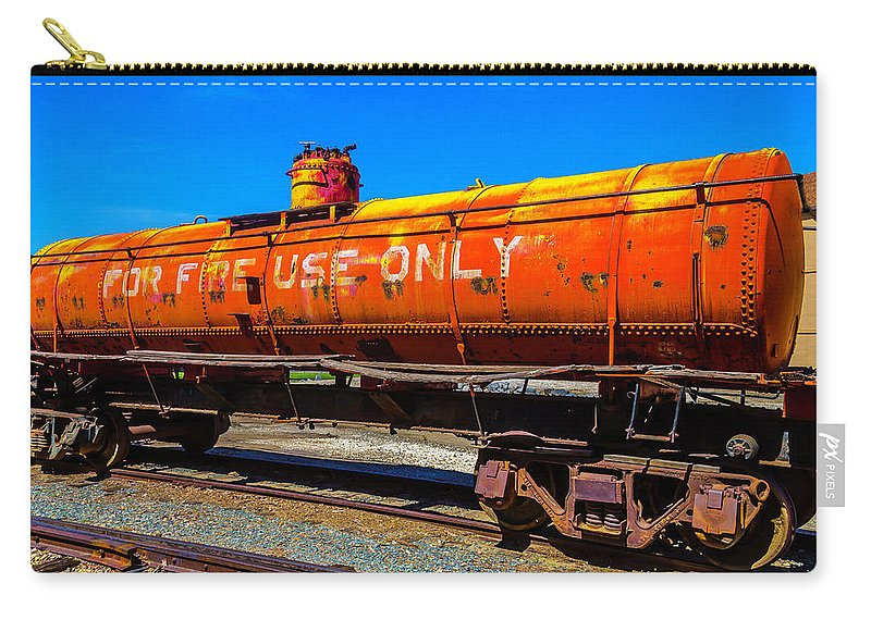 Tanker For Fire Use Only Carry-all Pouch featuring the photograph Fire Fighting Tanker by Garry Gay