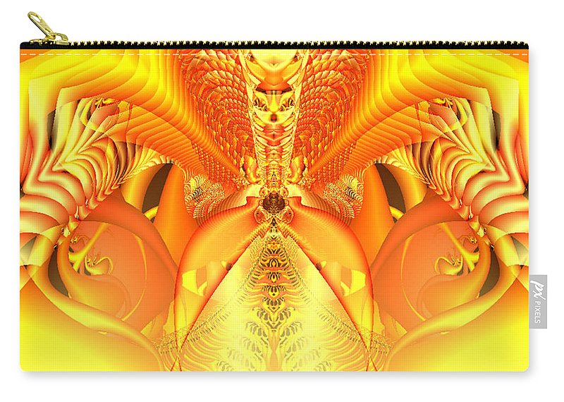 Gleem Carry-all Pouch featuring the digital art Fire Goddess by Gina Lee Manley