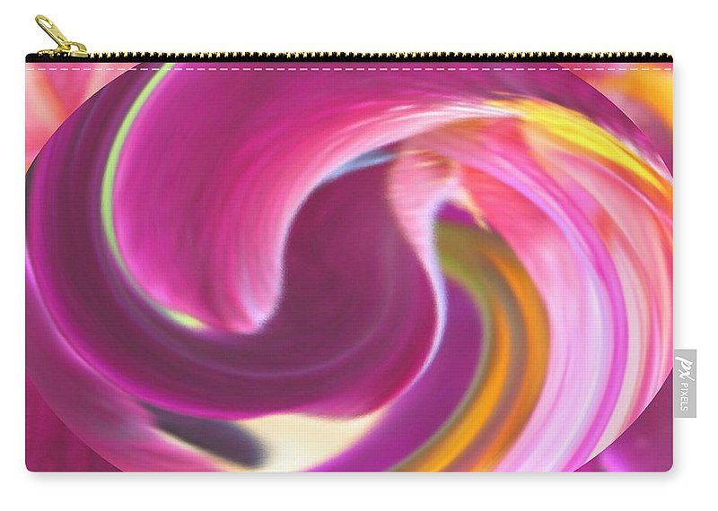 Purple Carry-all Pouch featuring the digital art Fire In My Soul by Ian MacDonald