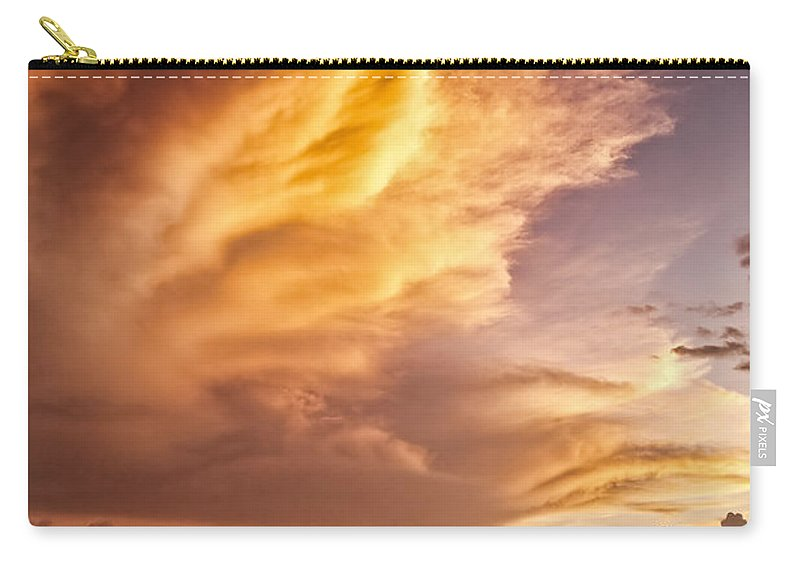Jamaica Carry-all Pouch featuring the photograph Fire In The Sky by Dave Bowman