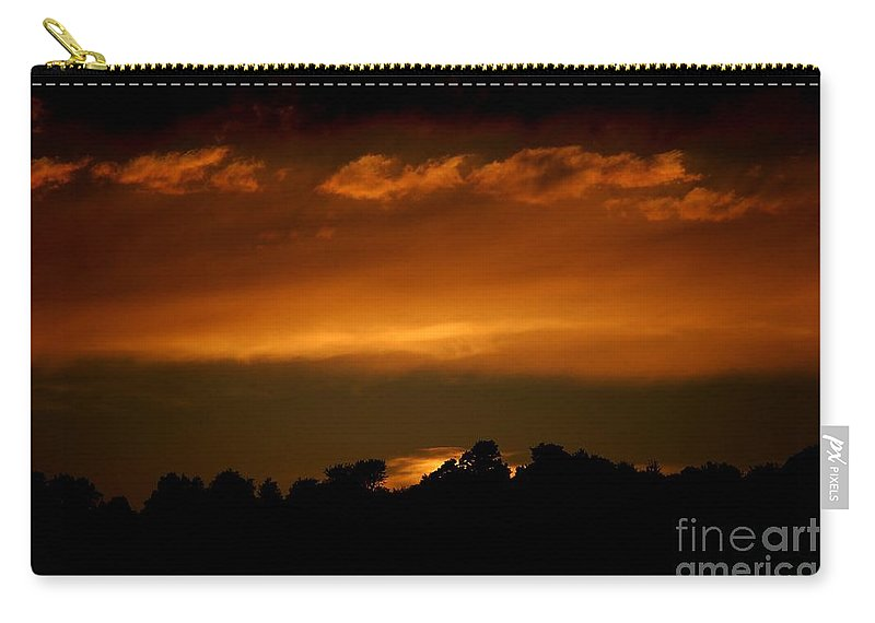 Digital Photo Carry-all Pouch featuring the photograph Fire In The Sky by David Lane