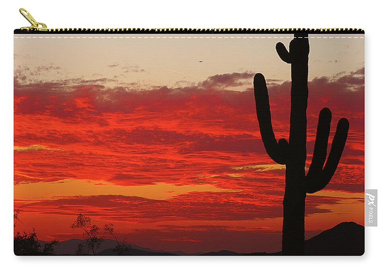 Sunset Carry-all Pouch featuring the photograph Fire In The Sky by James BO Insogna