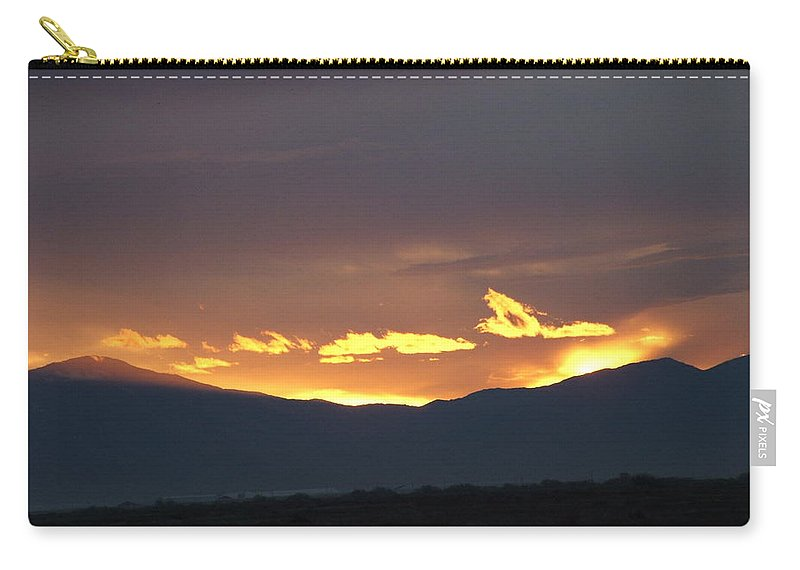 Sunset Carry-all Pouch featuring the photograph Fire In The Sky by Shari Chavira