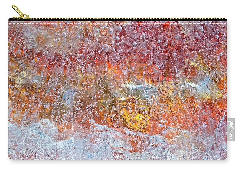Abstract Carry-all Pouch featuring the photograph Fire Inside by Shannon Workman