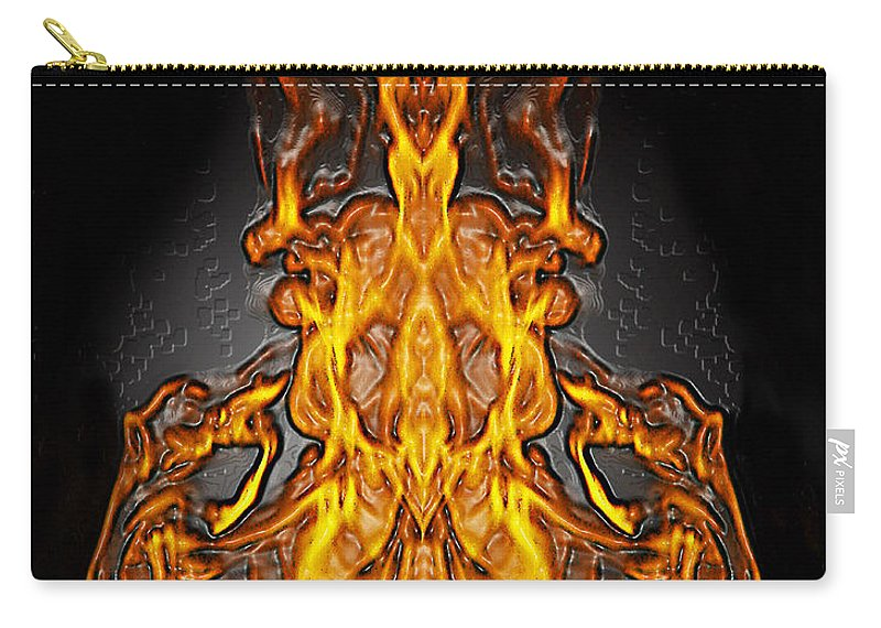 Devil Carry-all Pouch featuring the photograph Fire Leather by Peter Piatt
