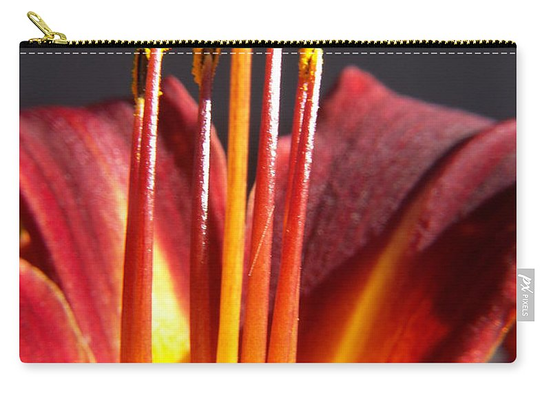 Fire Lily Carry-all Pouch featuring the photograph Fire Lily by Amy Fose