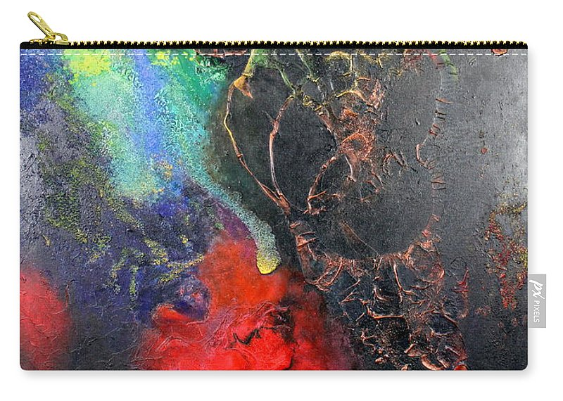 Valentine Carry-all Pouch featuring the painting Fire Of Passion by Farzali Babekhan