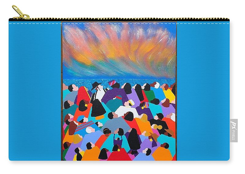 Obama Carry-all Pouch featuring the painting Fire Rainbow Obama by Synthia SAINT JAMES