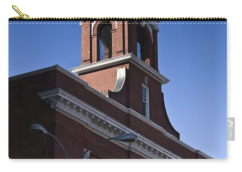 Roanoke Carry-all Pouch featuring the photograph Fire Station No 1 Roanoke Virginia by Teresa Mucha