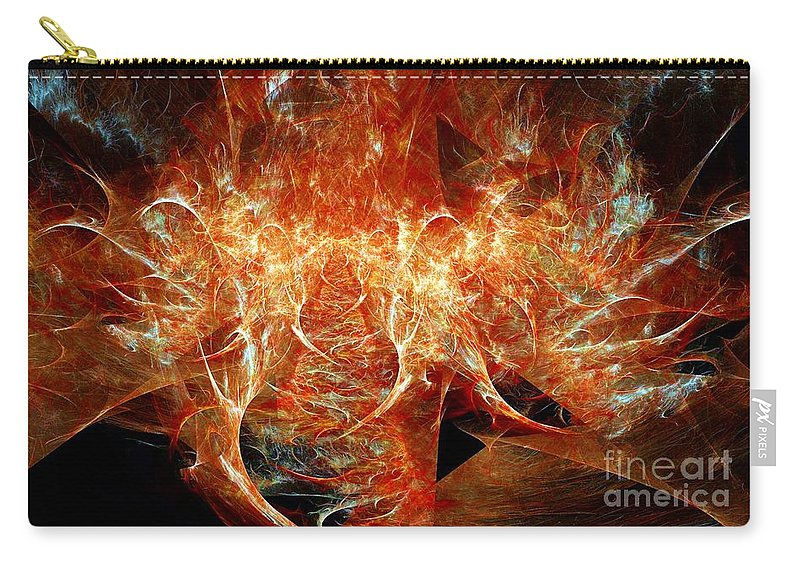 Fractal Carry-all Pouch featuring the digital art Fire Storm by Ron Bissett